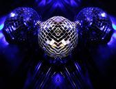 Blue Disco globes — Stock Photo