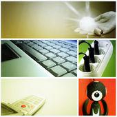 Tehnology collage — Stock Photo