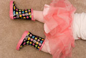 Rubber Boots and a TuTu — Stock Photo