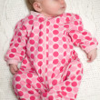 Peaceful Sleeping Baby Newborn Girl — Stock Photo