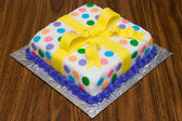 Fancy Decorated Birthday Cake — Stock Photo