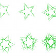 Royalty-Free Stock Vektorfiler: Green stars
