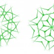 Green snowflakes — Vector de stock