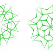 Royalty-Free Stock Imagen vectorial: Green snowflakes