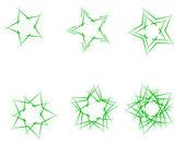 Gröna stjärnor — Stockvektor