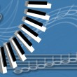 Musical background - Imagen vectorial