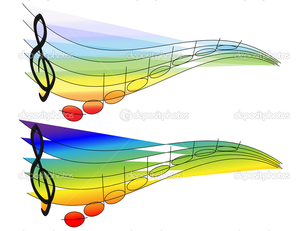 Rainbow Music Stock Images: Stock Vector © Huhli13 #3260402