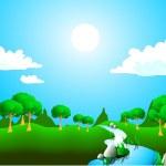 soliga landskap — Stockvektor  #3333919