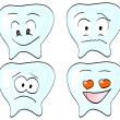 Royalty-Free Stock Vector Image: Cute teeth