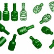 Royalty-Free Stock Vector Image: Green bottles