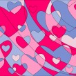 Royalty-Free Stock Vektorfiler: Hearts background