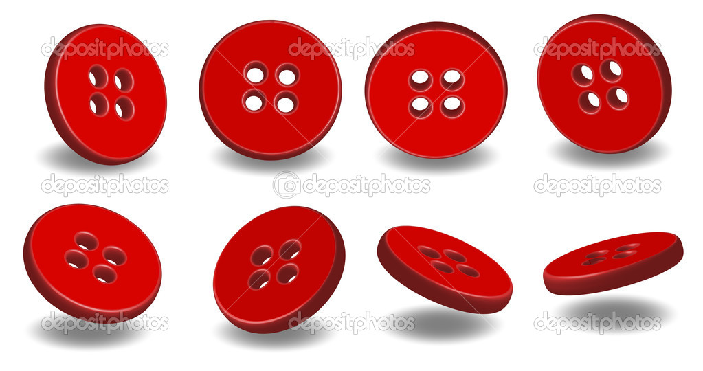 Red buttons isolated on white background  — Stock Vector #3566541