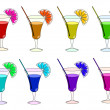 Rainbow cocktails - Stockvektor