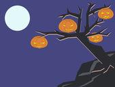 暗い木 — ストックベクタ