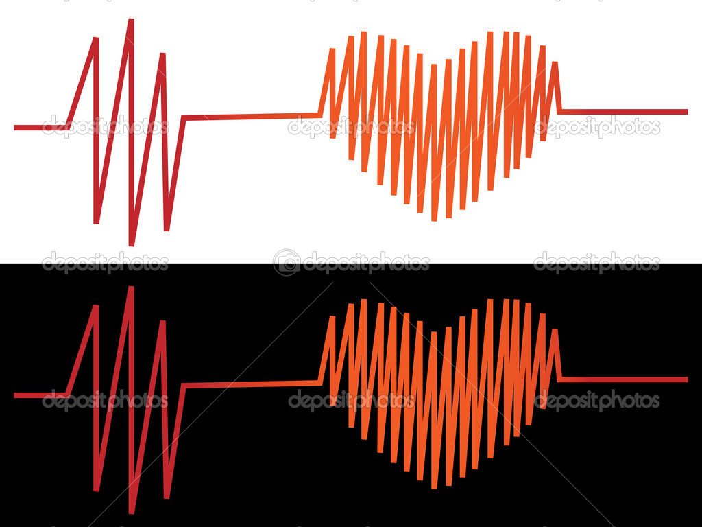 Vector illustration of cardiogram — Stock Vector #3711318
