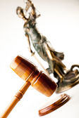 Justice statue, Law — Stock Photo