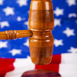 Law theme, mallet of judge! — Stock Photo