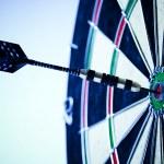 Dart & target — Stock Photo