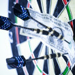 Stock Photo: Dart & target