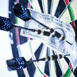 Dart & target — Stock Photo