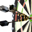 Dart &amp; target - Stock Photo