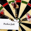 Bullseye,conceptual,success background - Stock Photo