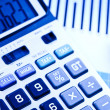 Calculator and diagram, Finance series — Stock Photo