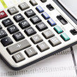 Diagram and calculator, Office work — Stock Photo