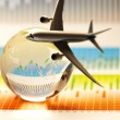 Travel concept, airliner - Stock Photo