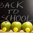 Back to school, inscription on blackboard — Stock Photo #3797139
