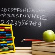 Alphabet & Blackboard — Stock Photo