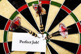 Bullseye,conceptual,success background — Stock Photo