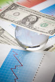 Money and Diagram — Stock Photo