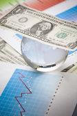 Money and Diagram — Stock Photo