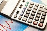 Raport and calculator — Stock Photo