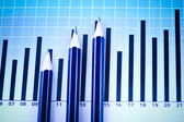 Financial indicators, Diagram — Stock Photo