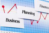 Financial indicators, Diagram — Stock Photo