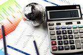 Financial Planning, Calculator — Stock Photo