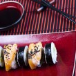Traditional japanese food, Sushi — Stock Photo