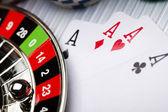 Poker, Casino & Roulette — Stock Photo