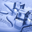Background with ice cubes — Stok fotoğraf
