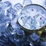 Ice cubes & Alarm clock — Stock Photo #3821255