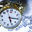 Постер, плакат: The time has come alarm clock and ice