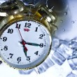 The time has come - alarm clock and ice — Stock Photo #3821659