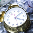 The time has come - alarm clock and ice — Stock Photo #3821712