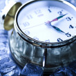 Ice cubes & Alarm clock — Stock Photo #3821720
