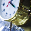 Clock and Ice cubes — Stok fotoğraf