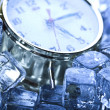 The time has come - alarm clock and ice — Stock Photo #3821803