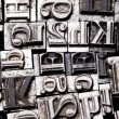 A mix of vintage letterpress characters — Stockfoto #3822486
