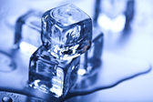 Crystals ice cubes — Stock Photo